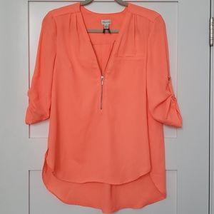 Dynamite neon coral blouse